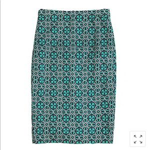 NWT J. Crew lattice medallion skirt
